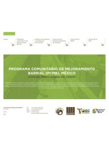 Informe PCMB: proyecto y jornadas de intercambio